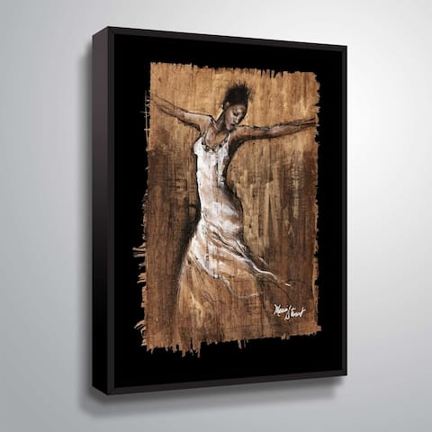 """Graceful Motion I"" Gallery Wrapped Floater-framed Canvas"