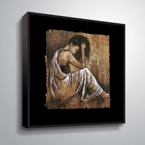 """Soulful Grace I"" Gallery Wrapped Floater-framed Canvas"