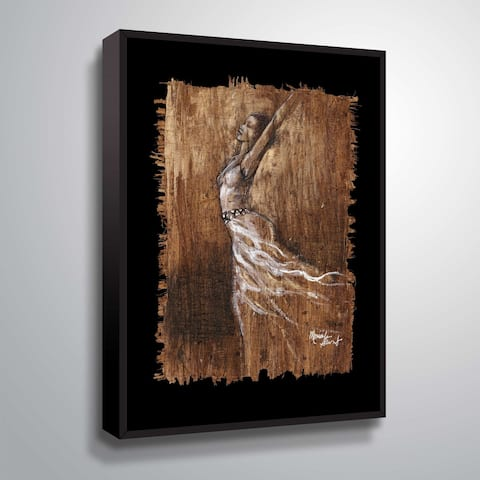 """Graceful Motion IV"" Gallery Wrapped Floater-framed Canvas"