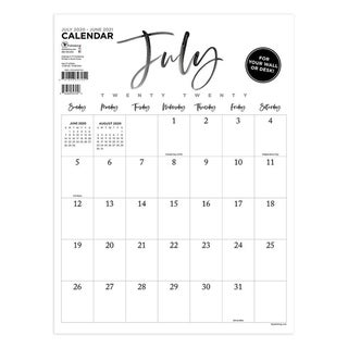Link to July 2020-June 2021 9x12 Handwritten Script Mini Monthly Art Poster Calendar Similar Items in Planners & Accessories