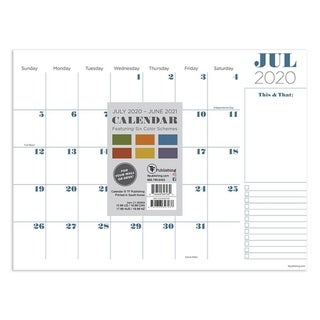 Link to July 2020-June 2021 12x9 Professional Mini Monthly Desk Pad Calendar Similar Items in Planners & Accessories