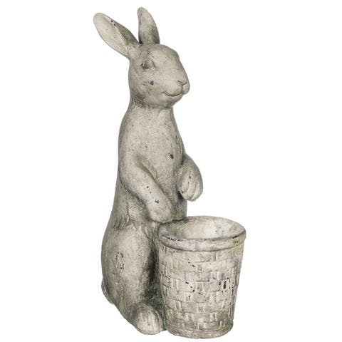 Bunny With Pot Planter