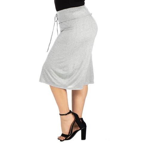 Drawstring Plus Size Gaucho Pants