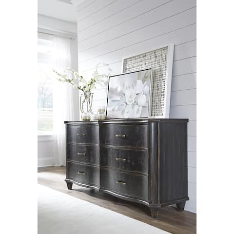 Philip Solid Wood Six Drawer Dresser in Dark Espresso