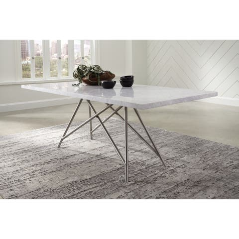 Coral Marble Rectangular Dining Table
