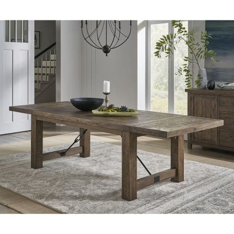 Autumn Solid Wood Extending Dining Table in Flink Oak