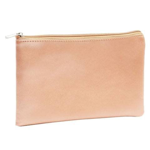 2x Rose Gold Cosmetic Makeup Zipper Bag Pouch for Stationery Office Travel