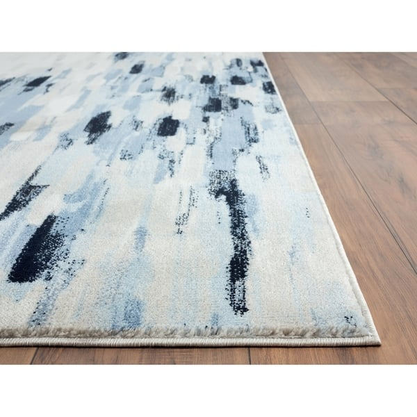 Abani Porto Contemporary Rectangle Orange And Blue Abstract Area Rug On Sale Overstock 29934888