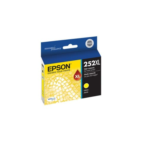 Epson T252XL420S DURABrite Ultra Ink 252XL Ink Cartridge - Yellow - 8' x 11'