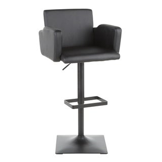 Link to Sergio Contemporary Adjustable Bar Stool - N/A Similar Items in Dining Room & Bar Furniture
