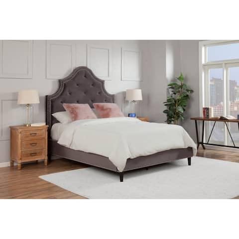Grandis Velvet Upholstered Bed