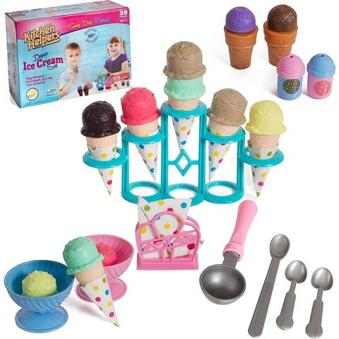 IQ Toys Pretend Play Yummy Ice Cream Stand Set Pretend Play Food