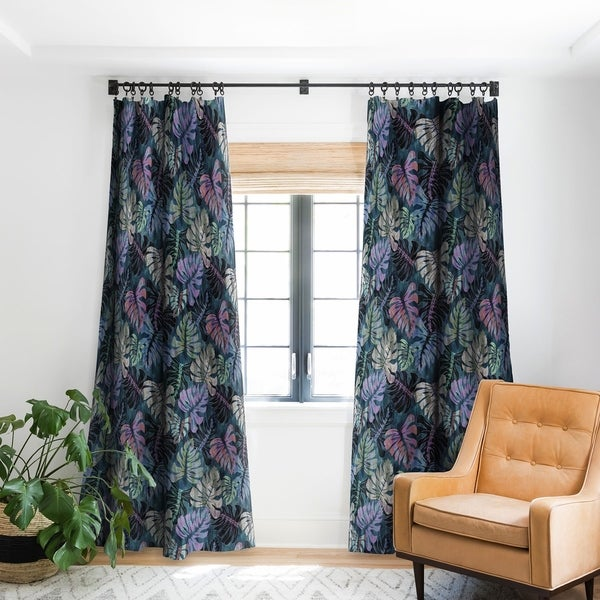 Schatzi Brown Phoenix Tropical Juniper Blackout Curtain Panel - 96 Inches (As Is Item). Opens flyout.