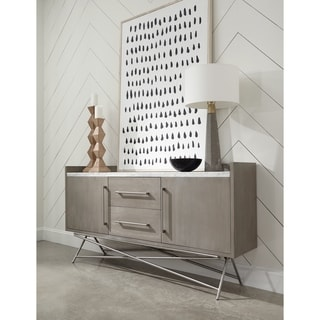 Link to Coral Marble Top Rectangular Sideboard in Antique Grey - 38Hx72Wx16D Similar Items in Dining Room & Bar Furniture