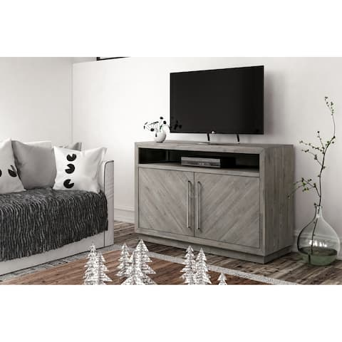 "Alexandra Solid Wood 54"" Media Console in Rustic Latte - 54 inches in width"