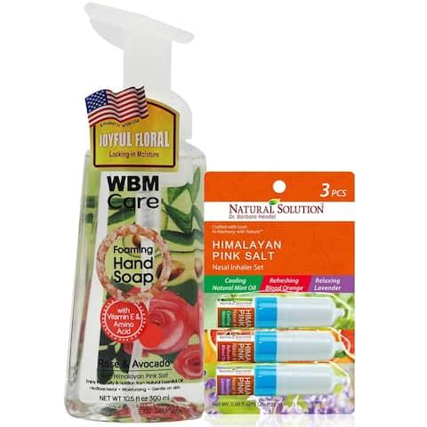 WBM Antibacterial Hand Soap with Variety Pack Nasal Inhaler