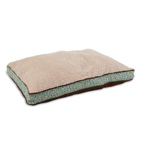 Petmate Gusseted Teal Pillow Dog Bed - 40 X 29