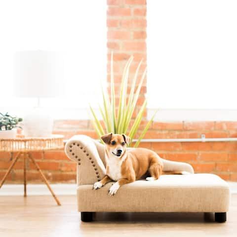 La-Z-Boy Lakewood Chaise Furniture Dog Bed - 34 X 18