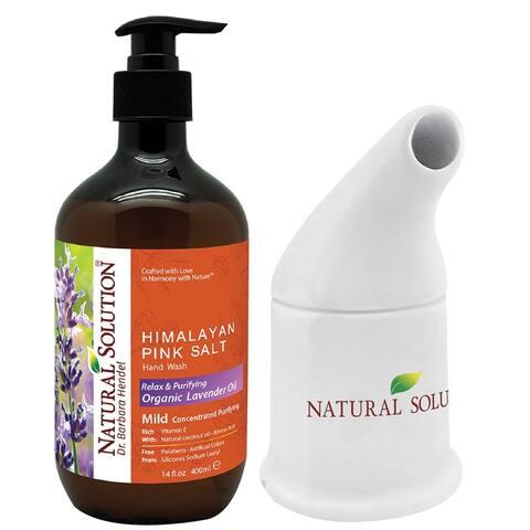 WBM Natural Lavender Hand Soap with Cermeric Pink Salt Inhaler