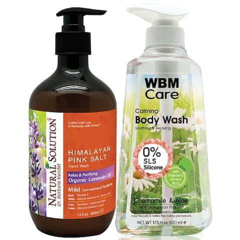 WBM Natural Lavender Hand Soap & Natural Chamomile Body Wash