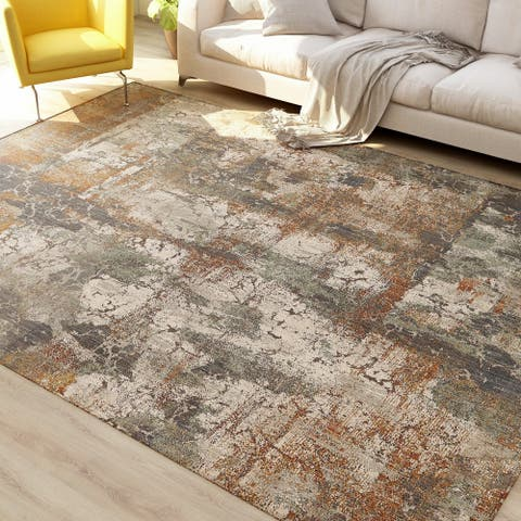 Furniture of America Heen Contemporary Polyester Area Rug