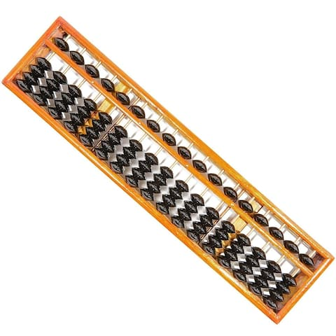Chinese Wood Abacus Calculator Soroban, Vintage, 17 Columns 15.3 x 0.85 x 3.7 in