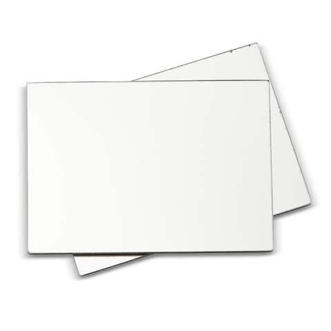 2 Pack Magnetic Personal Makeup Locker Mirror with Rounded Corners, 5 x 7 inches