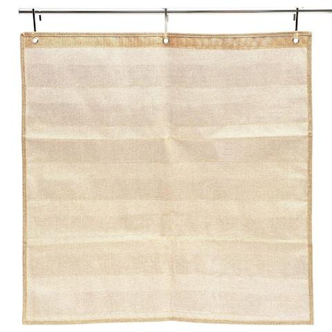 Burlap Pocket Chart for Classroom Teacher and School, 7 Pockets, 28 x 28 inch