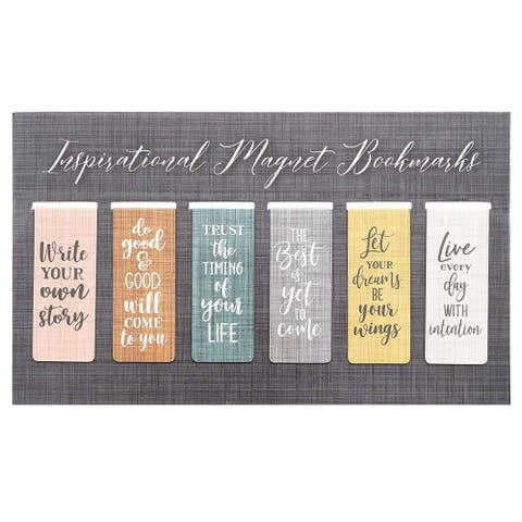 "36x 2.5"" Magnetic Bookmarks w/ Inspirational Quotes Document Clip Page Markers"