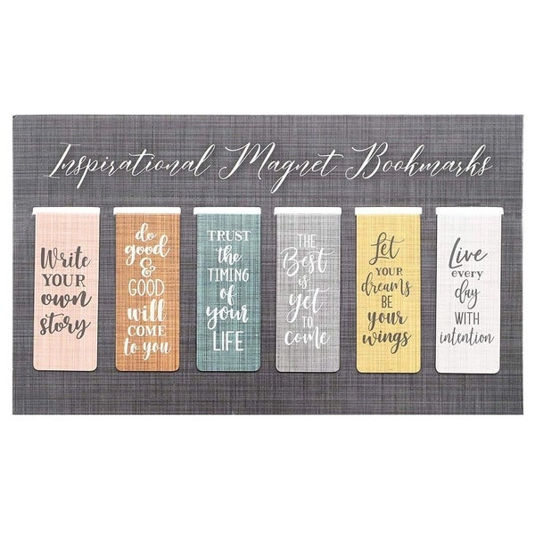 """36x 2.5"""" Magnetic Bookmarks w/ Inspirational Quotes Document Clip Page Markers"""