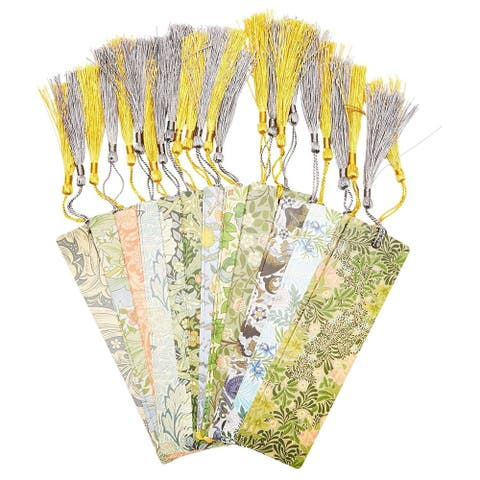 24 pieces William Morris British textile design Bookmarks with Tassel 7x2 in