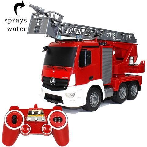 Waze Drive Toys Mercedes-Benz Remote Control Fire Truck