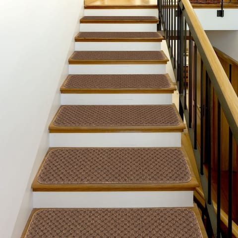 "Beverly Rug Indoor Non Slip 8""x26"" Carpet Stair Treads"