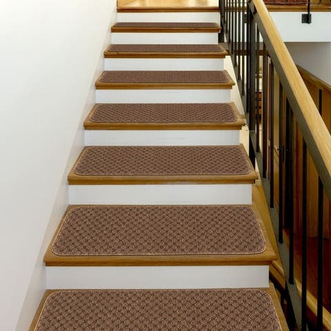"Beverly Rug Indoor Non Slip 8""x26"" Carpet Stair Treads"