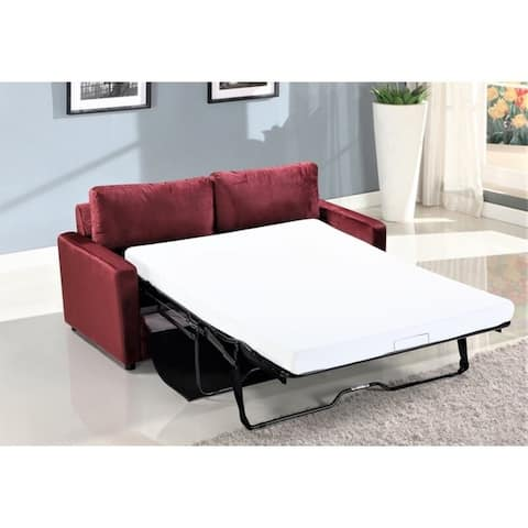 "Knightsville Velvet 70"" Square Arms Sofa Bed"