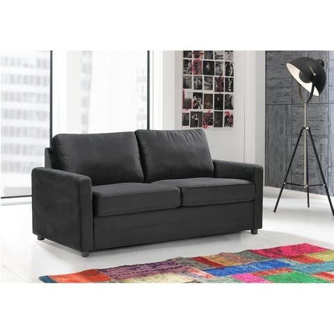 """Knightsville Velvet 70"""" Square Arms Sofa Bed"""