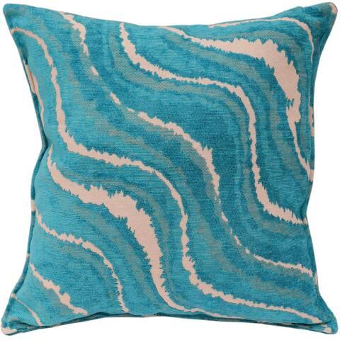 Galaxy Rue Blue Ivory Turkish Silk Pillow