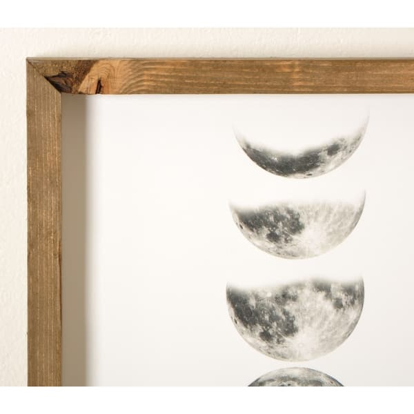 Moon Phases Wooden Framed Art Print Overstock 31138929