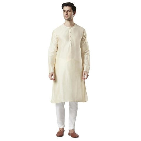 Ethnix Men's Indian Staple Classic Collar Comfortable Long Kurta Tunic