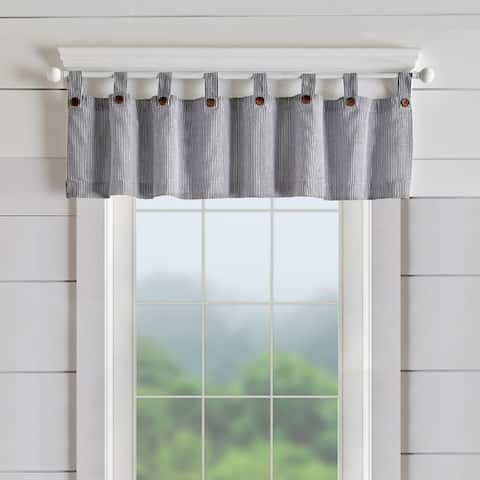 "Tucker Ticking Stripe Window Valance - 60""w x 15""l - 60""w x 15""l"