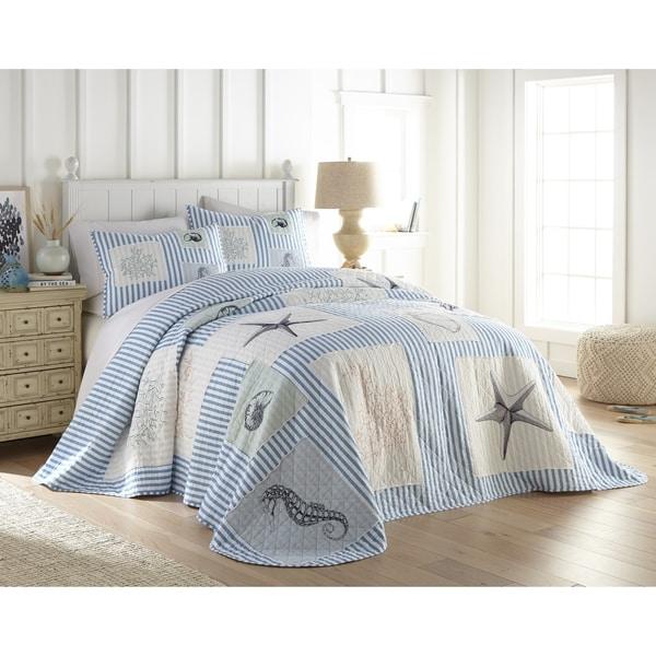 Beach Haven Sealife Seersucker Bedspread. Opens flyout.