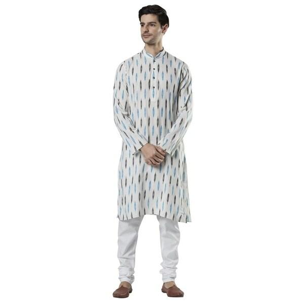 Ethnix Mens Indian Classic Collar Festive Kurta Tunic Pajama Set