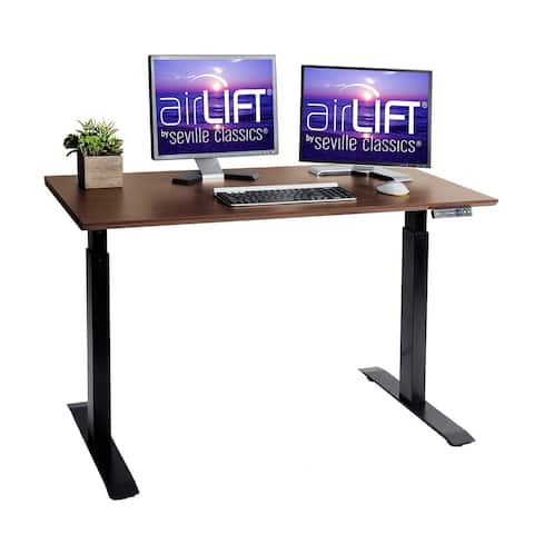 AIRLIFT? Electric Adjustable Standing Desk with USB Charger