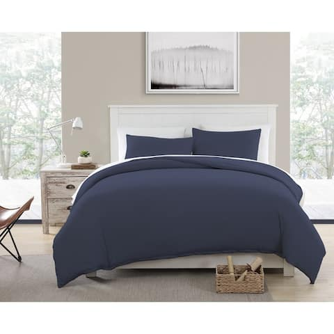 Asher Home Eco-Friendly Recycled Cotton Blend T-shirt Jersey Duvet and Sham Set