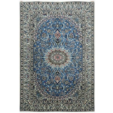 Handmade One-of-a-Kind Nain Wool & Silk Rug (Iran) - 6'4 x 9'5