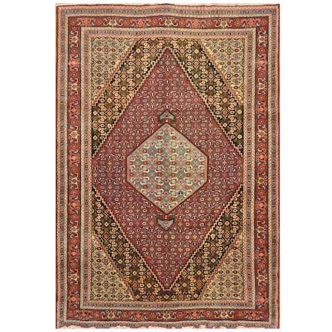 Handmade One-of-a-Kind Senneh Wool Rug (Iran) - 6'5 x 9'5