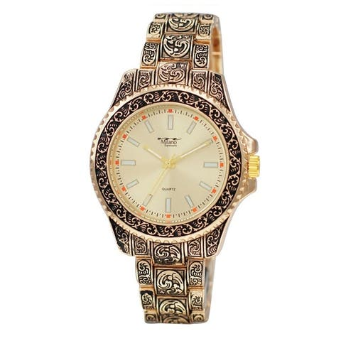 42MM Milano Expressions Metal Band Watch