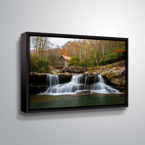 Grist Mill in WV by Cody York Gallery Wrapped Floater-framed Canvas