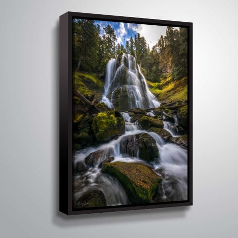 Upper Falls creek in Washington by Cody York Gallery Wrapped Floater-framed Canvas
