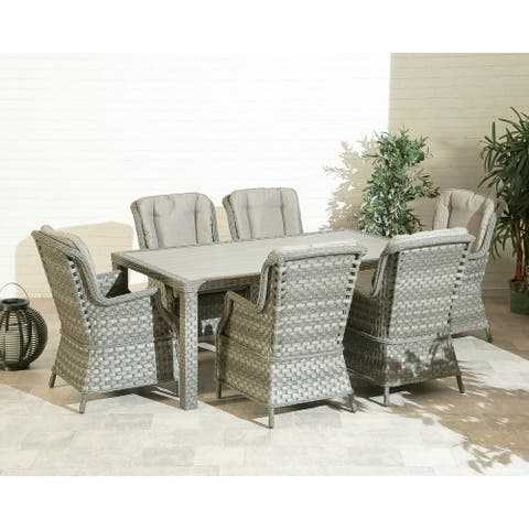 Porto Fino 6 Seat Dining Collection - 41.3x27.55x37.4